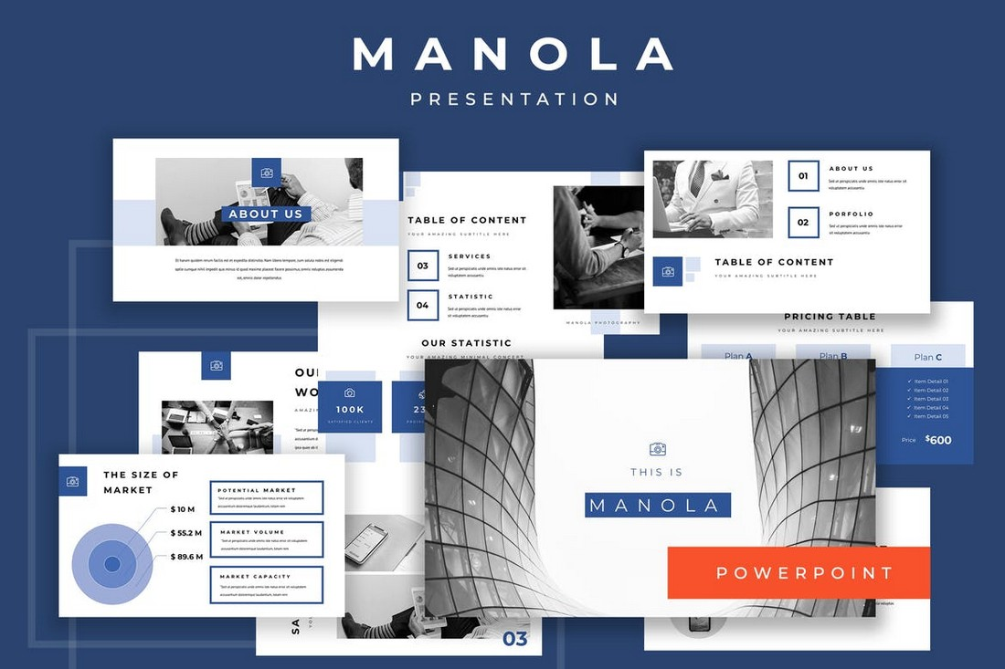 Manola - Pitch Deck Powerpoint Presentation