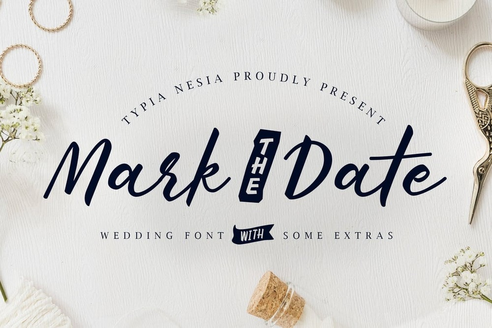 Mark The Date - Wedding Invitation Font