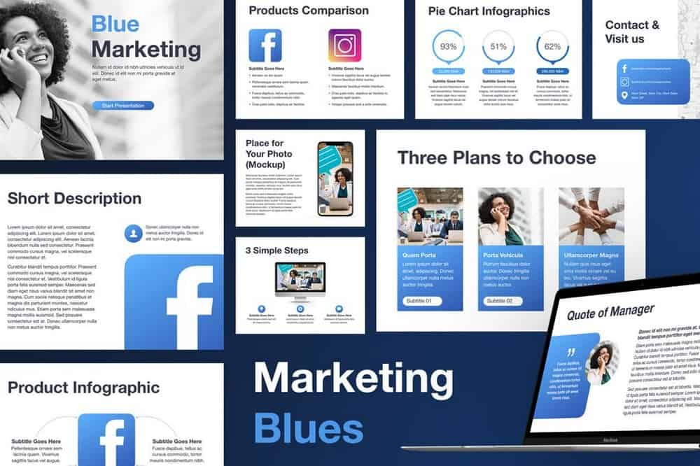 Marketing Blues - Modern Keynote Template