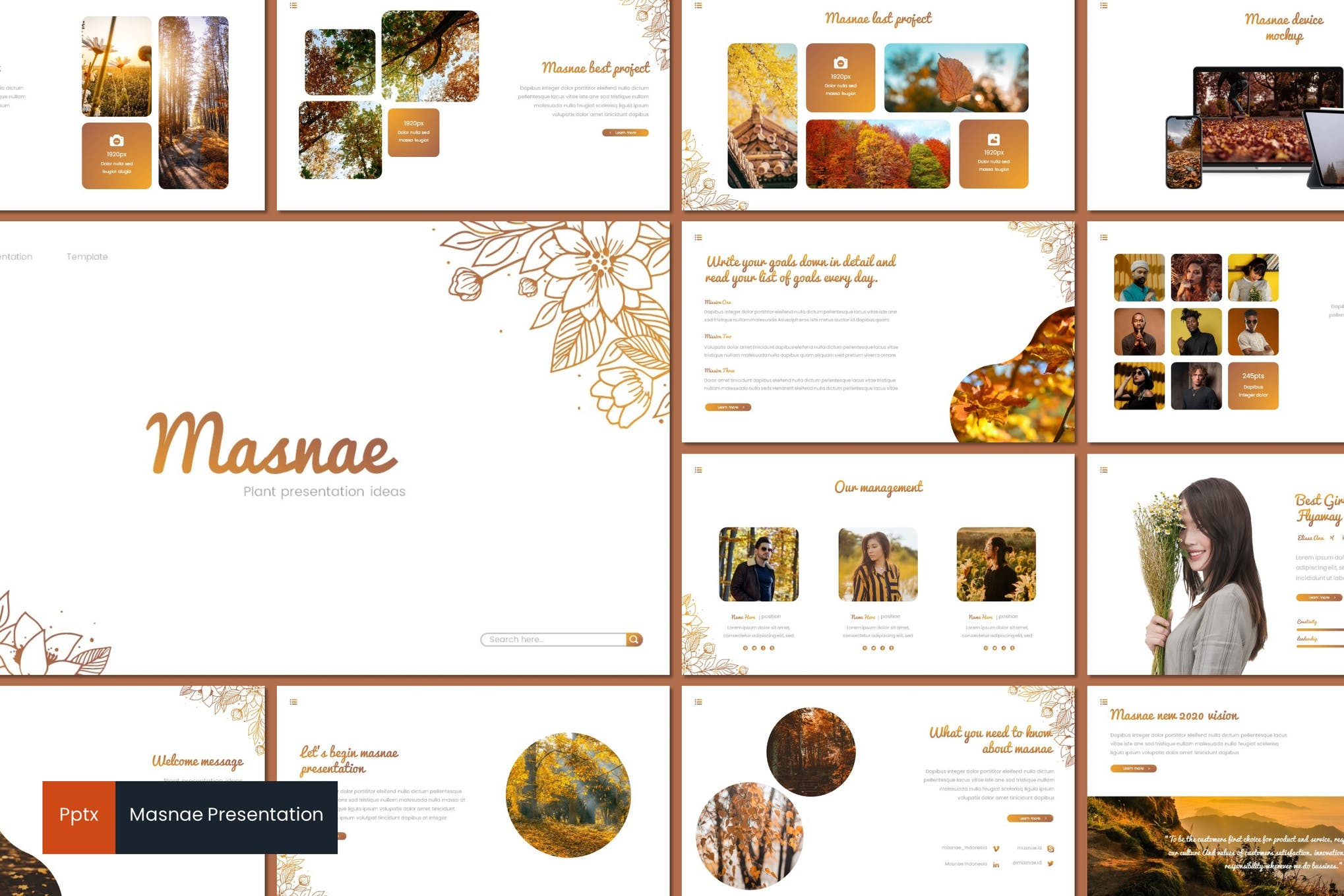 Masnae - Powerpoint Template