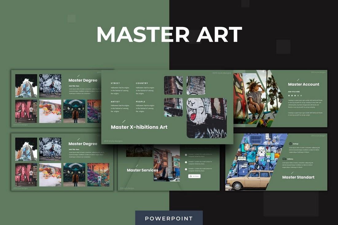 Master Art - Template Powerpoint Pameran Seni