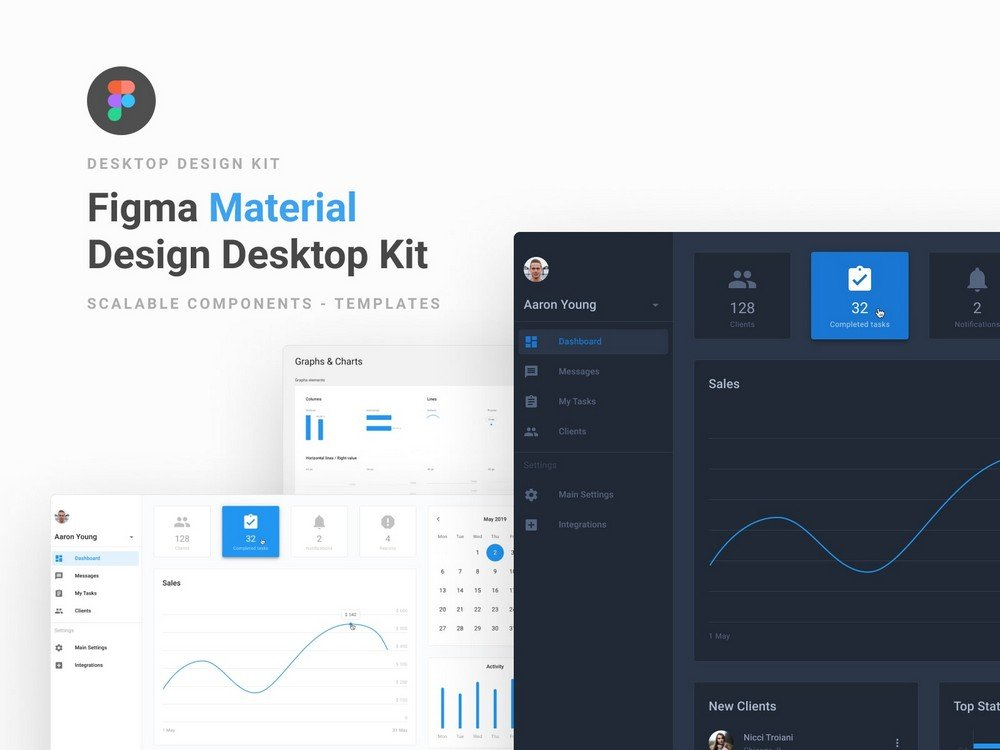 Material Kit - Free Figma Dashboard UI Kit