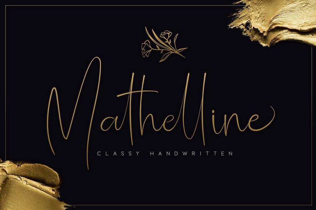 Mathelline - Classy Handwritten Business Card Font