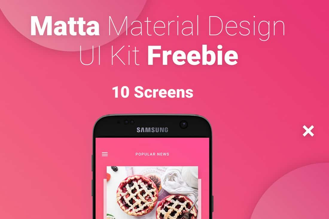 Matta- Free Material Design Mobile UI Kit