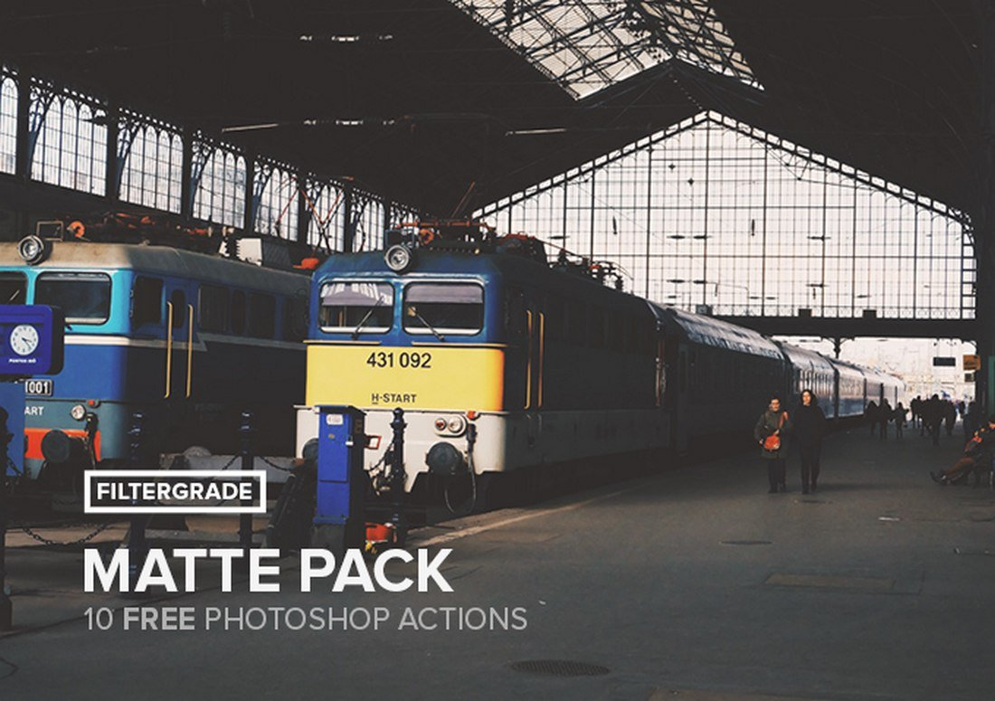 Matte - 10 Free Photoshop Actions Pack