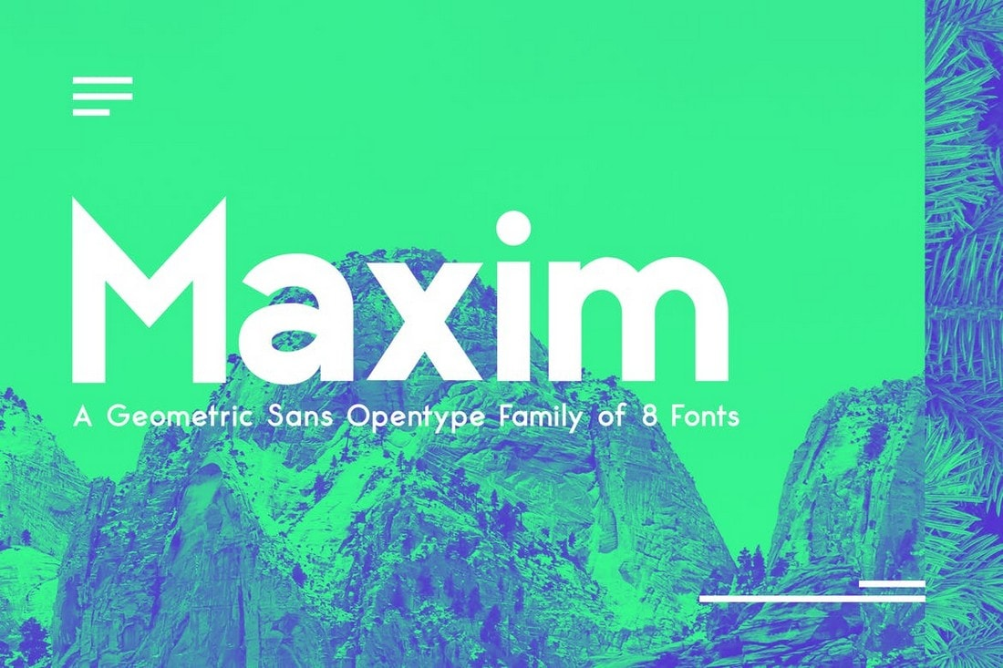 Maximus Sans - A Geometric Sans Font Family