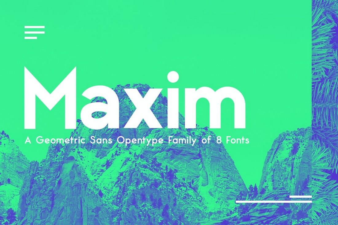 Maximus Sans - Keluarga Font Geometris Sans