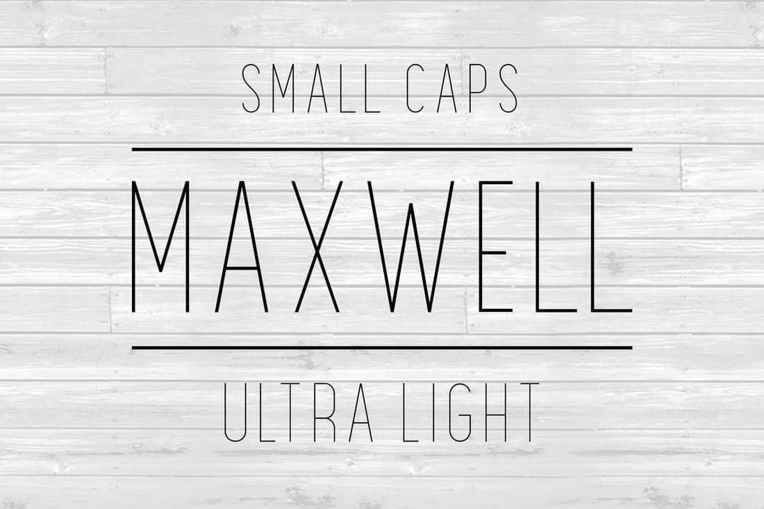 Maxwell Sans - Ultra Light Font