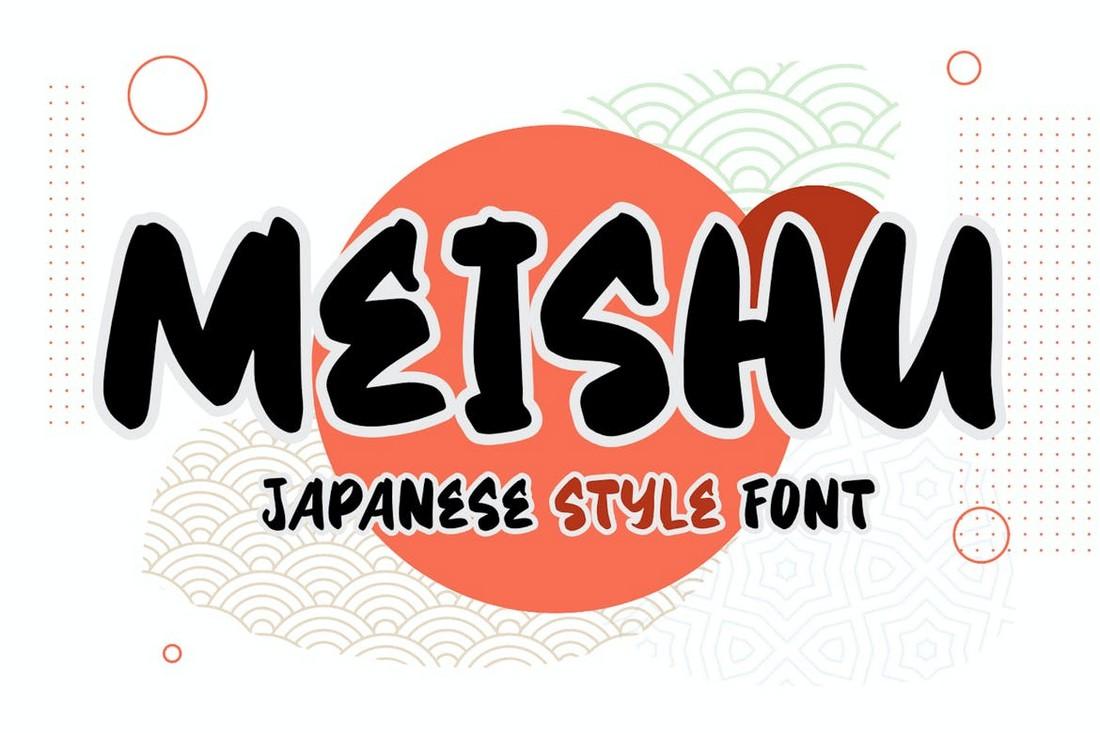Meishu - Font Gaya Jepang