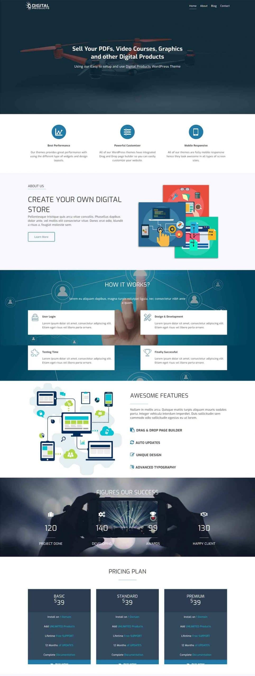 Digital Products Theme