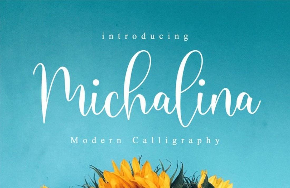 Michalina - Free Cursive Calligraphy Font