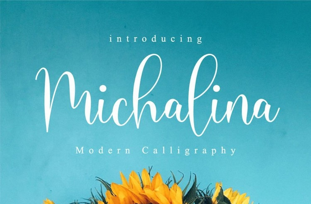 Michalina - Free Modern Calligraphy Font
