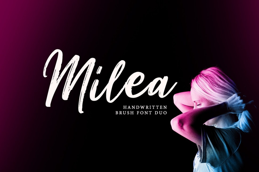 Milea - Free Handwritten Brush Font