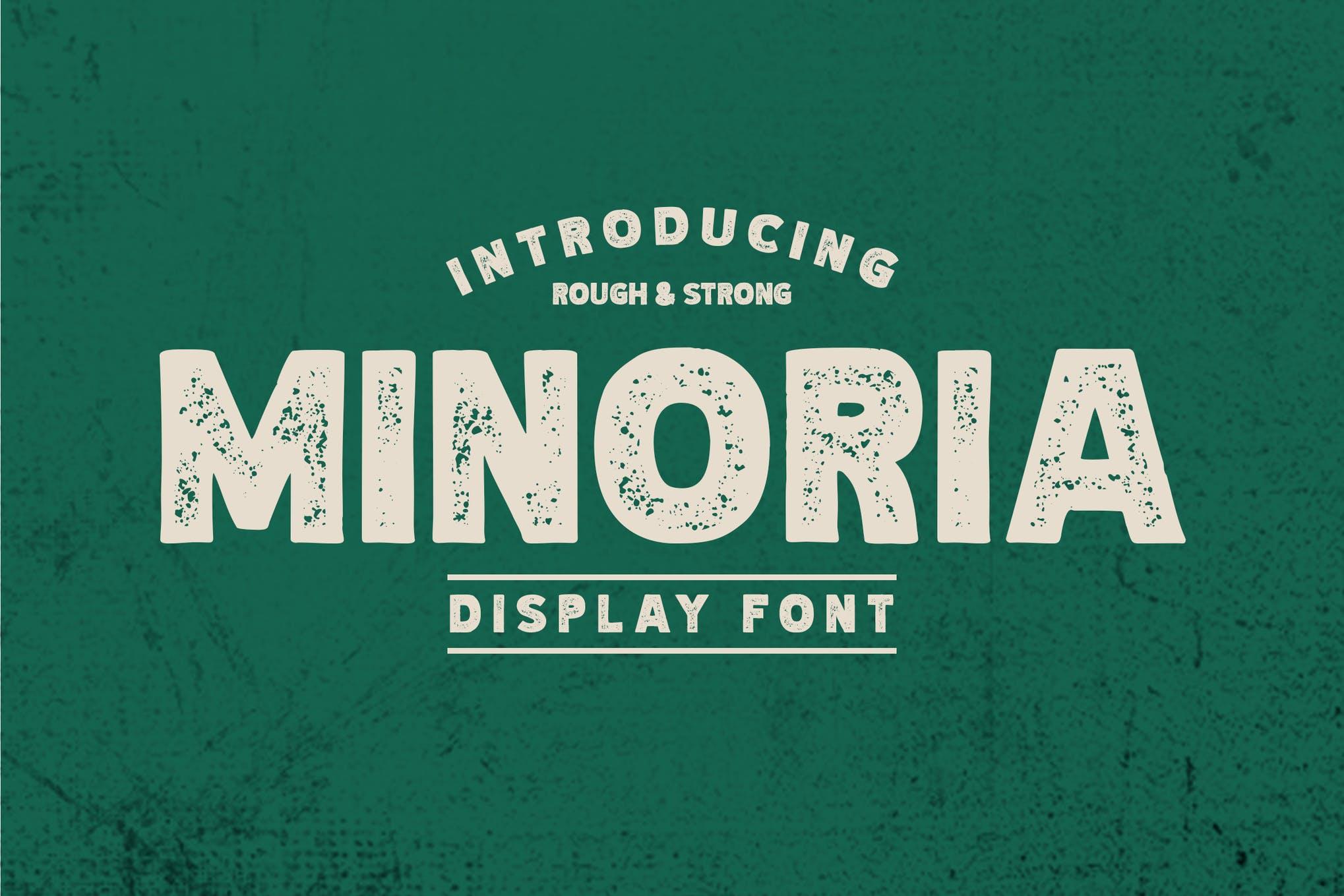 Minoria - Menampilkan jenis huruf kasar