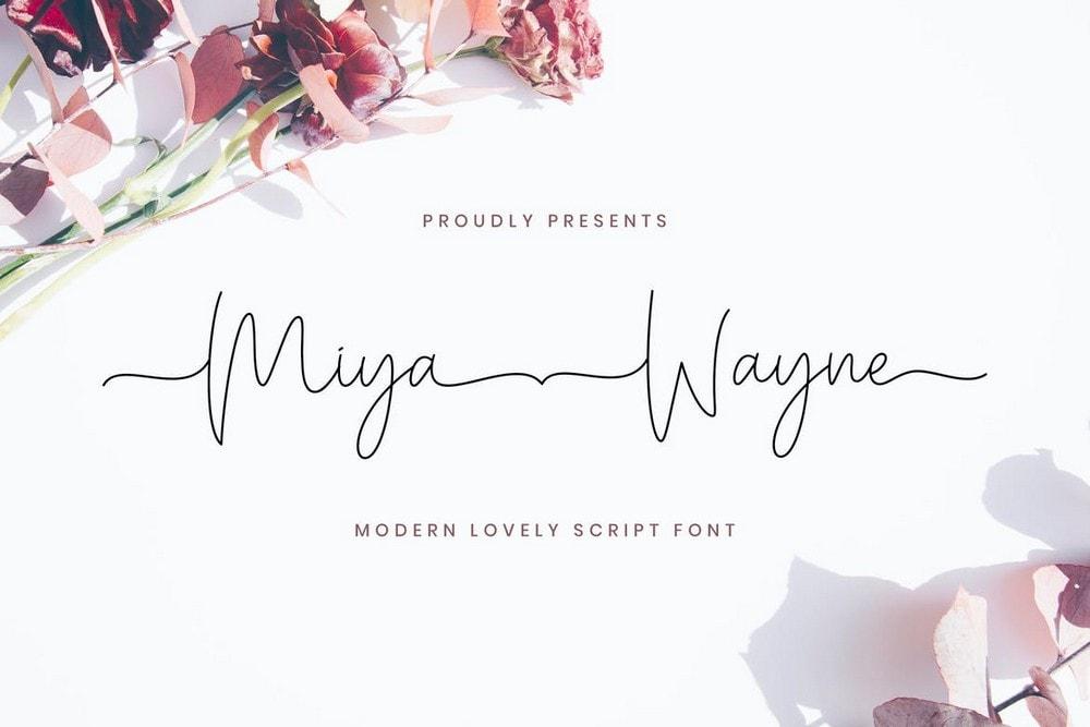 Miya Wayne - Font Pernikahan Naskah Indah