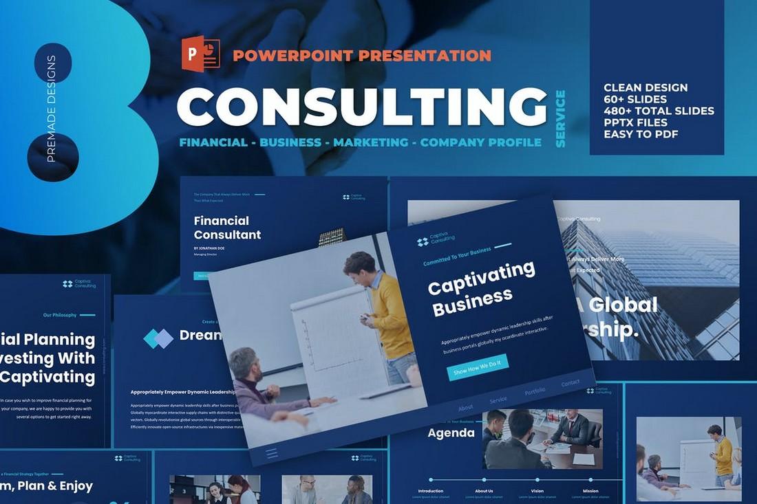 Templat PowerPoint Konsultasi Bisnis Modern