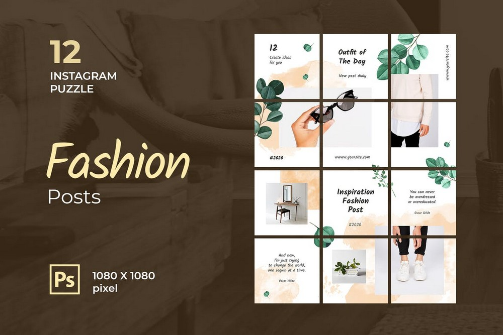 25 Top Instagram Grid Template Psds For 2021 Theme Junkie