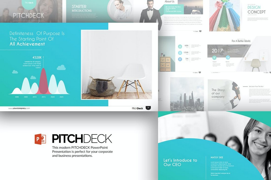 Modern Pitch Deck Powerpoint Presentation