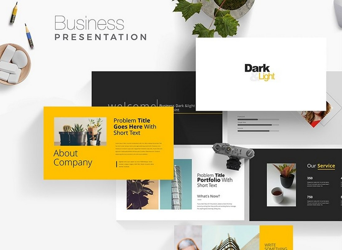 Modern PowerPoint Pitch Deck Template Free