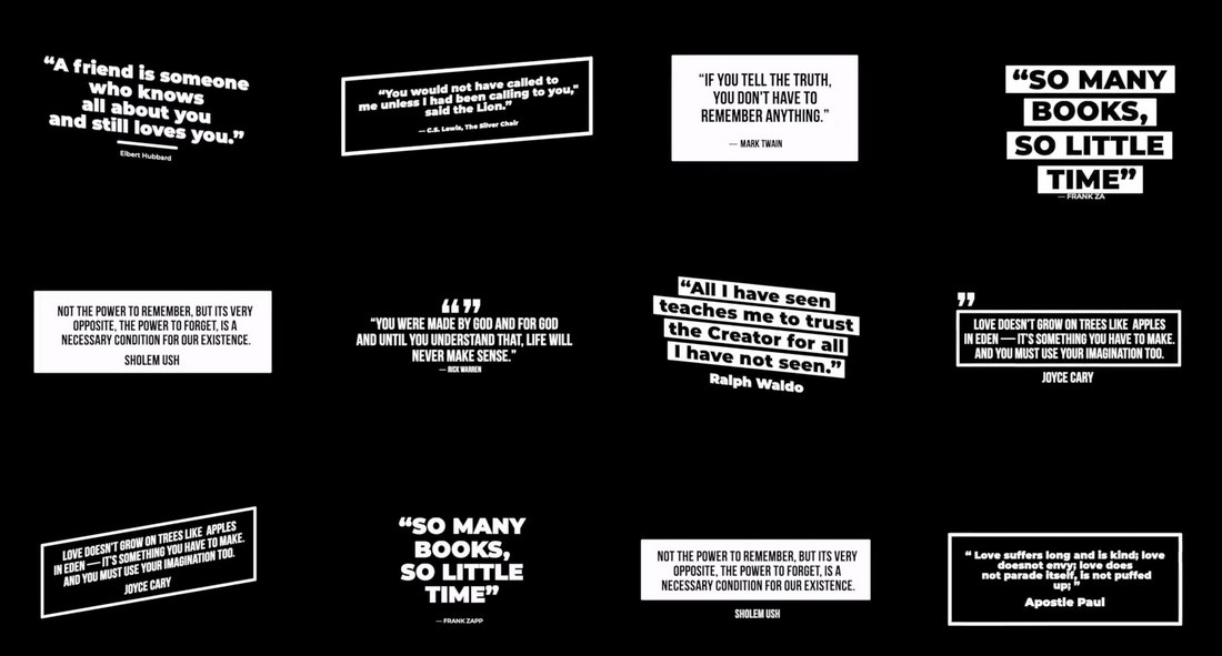 Modern Quotes Premiere Pro B&W Template