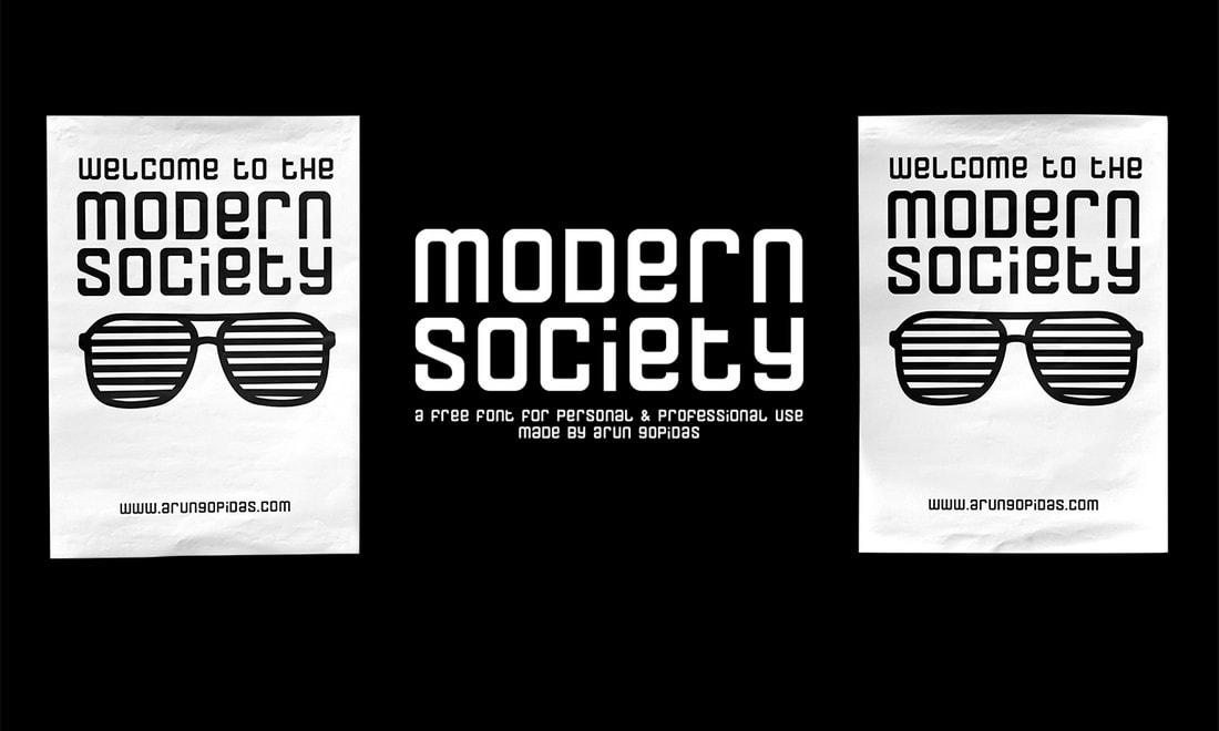 Modern Society - Free Monospaced Font