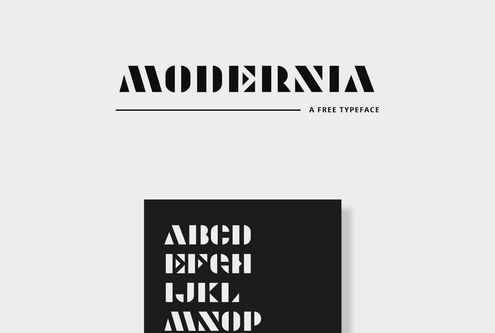 Modernia - Free Creative Logo Font