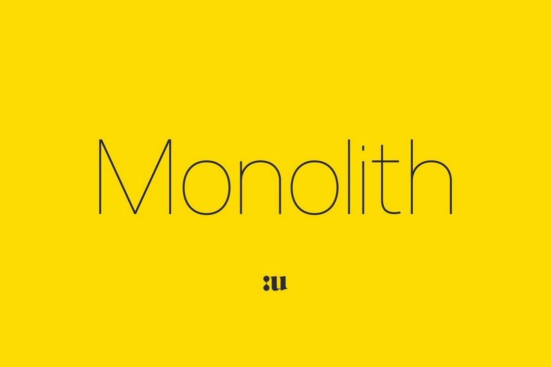 Monolith - Keluarga Font Geometris Sans Serif