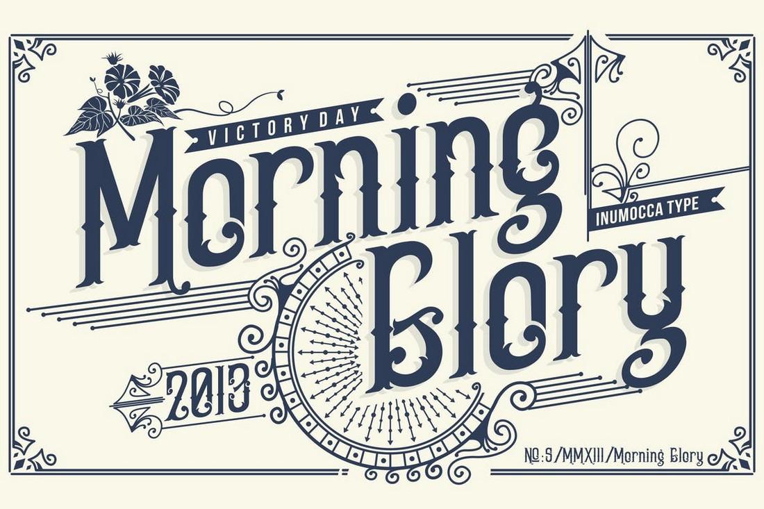 Morning Glory - Victorian Era Vintage Font