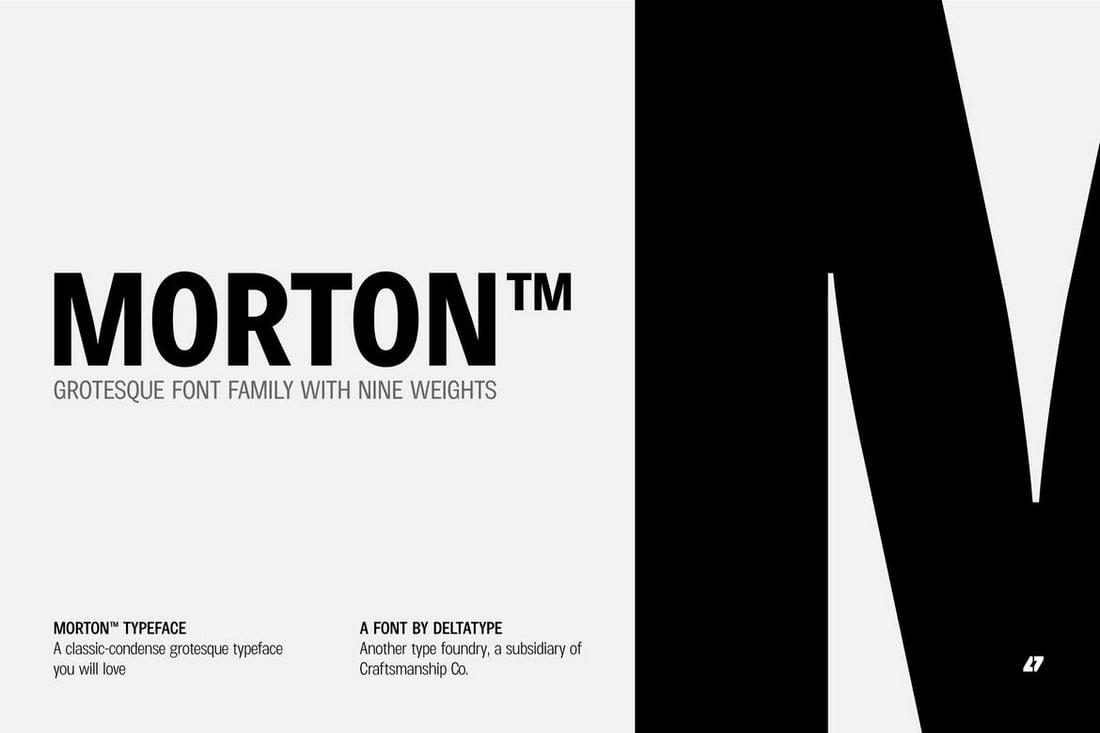 Morton - Keluarga Font Aneh untuk Kartu Nama