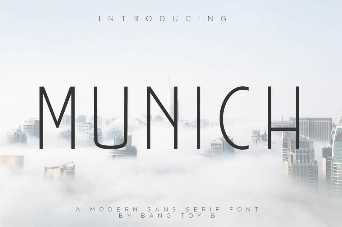 Munich - Free Narrow Sans Serif Font