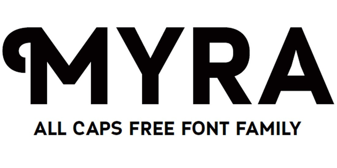 Myra - Free All-Caps Poster Font
