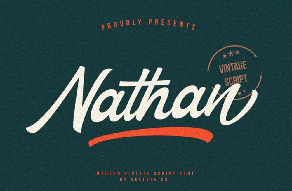 Nathan - Font Pernikahan Vintage Gratis