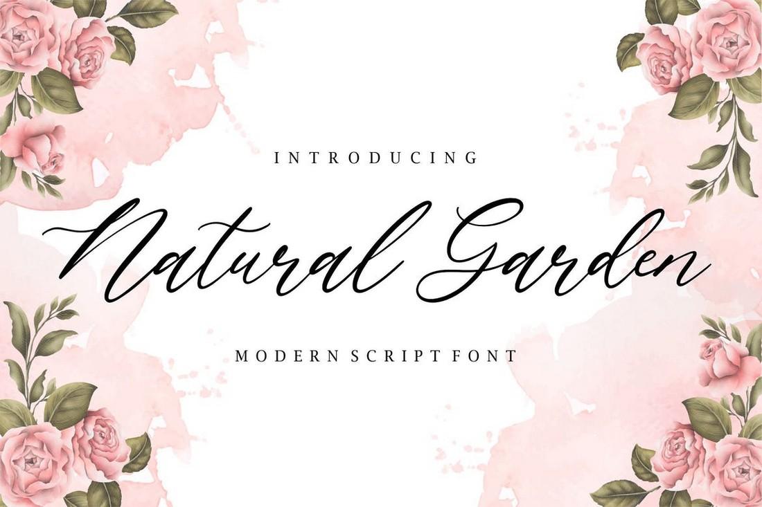 Natural Garden YH - Wedding Script Font