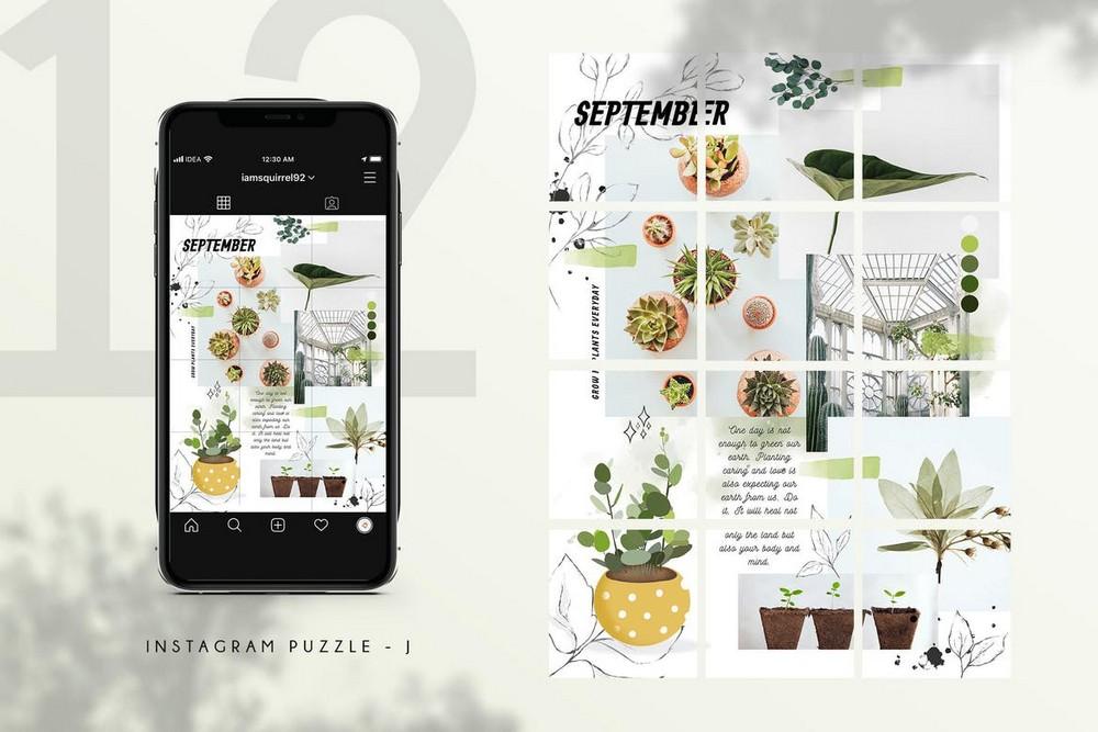 Nature - Instagram Puzzle Grid Template