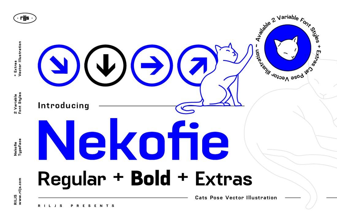 Nekofie - Free Modern Font Family
