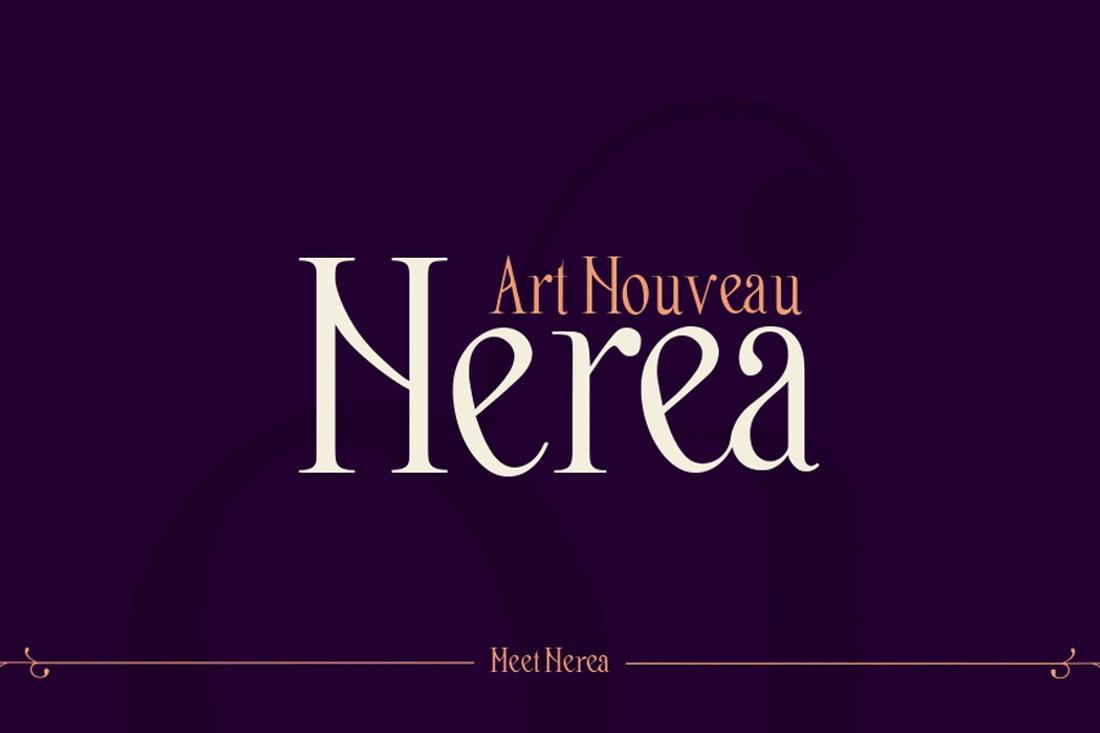 Nerea - Font Art Nouveau Gratis
