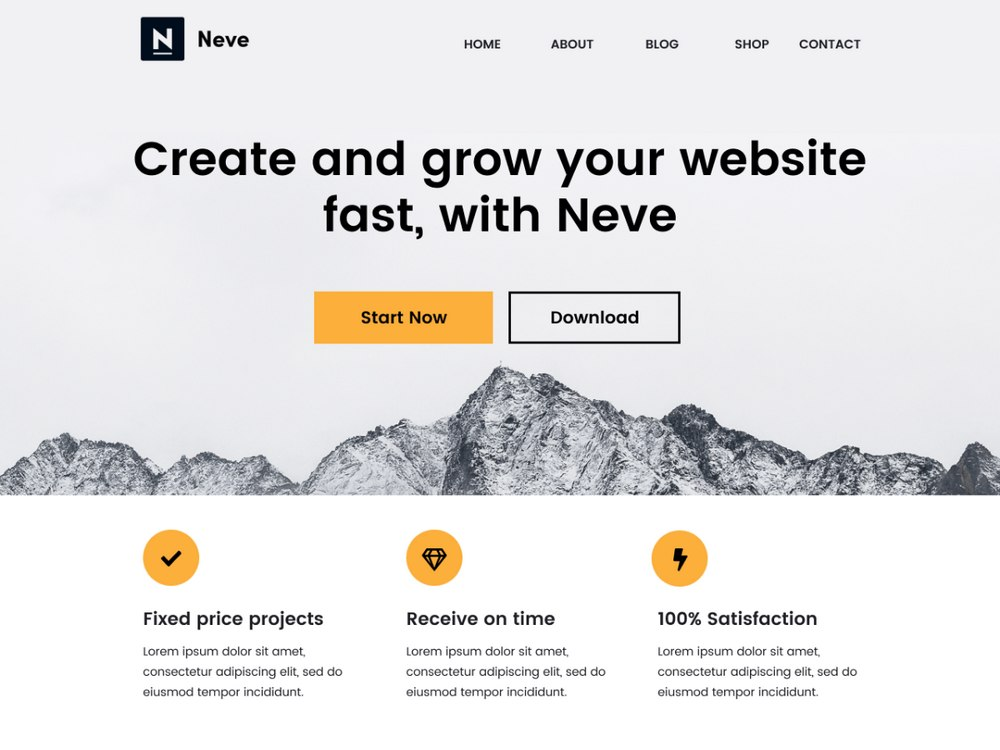 Neve - Free Business WordPress Theme