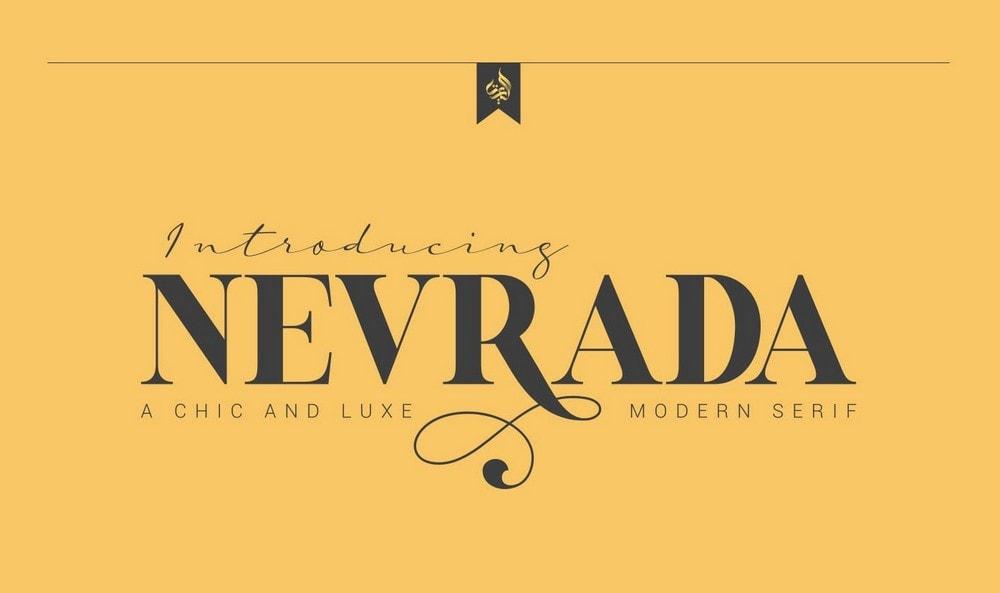 Nevrada - Free Elegant Serif Font