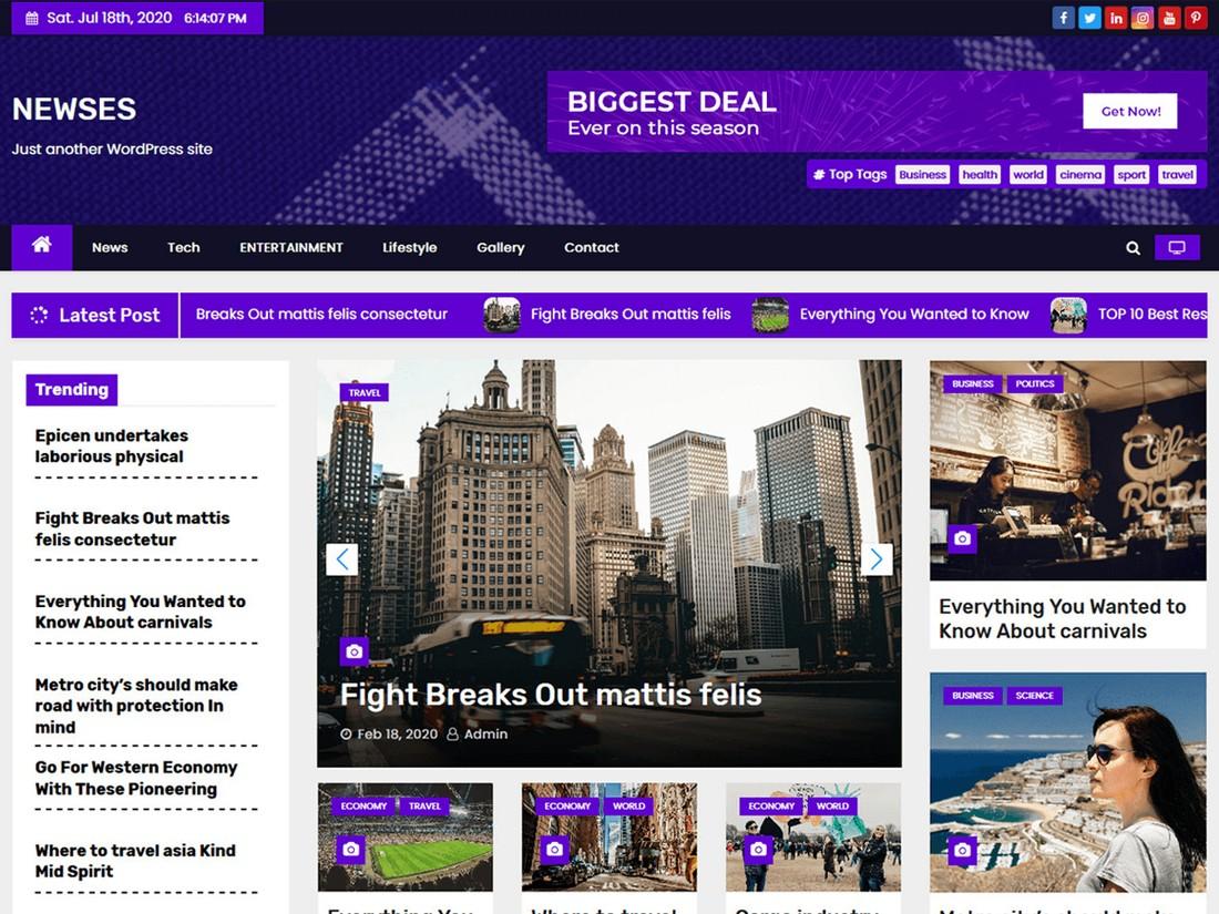 Newses - Free WordPress News Theme
