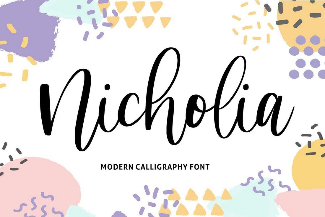 Nicholia - Font Kaligrafi Pernikahan Modern