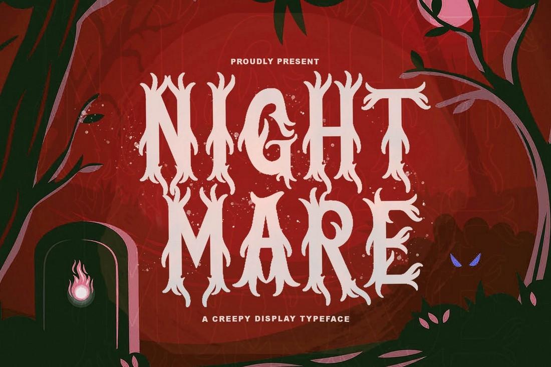 Nightmare - Horror & Heavy Metal Font