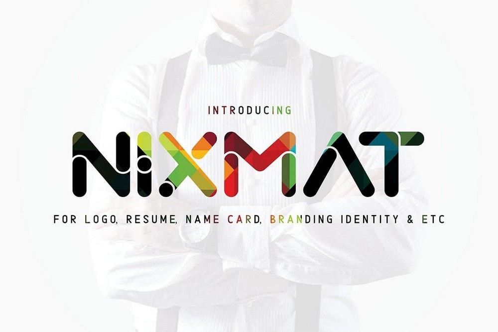 Nixmat - A Brand Identity Font