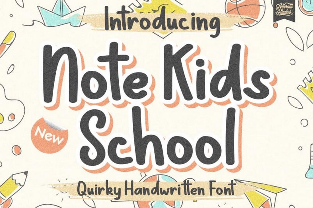 Catatan Sekolah Anak - Font Tampilan Gratis