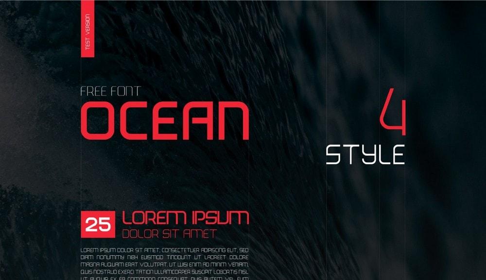 Ocean - Creative Free Font