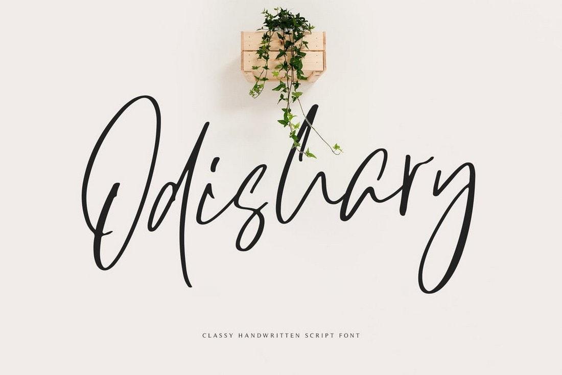 Odishary - Modern Handwritten Font