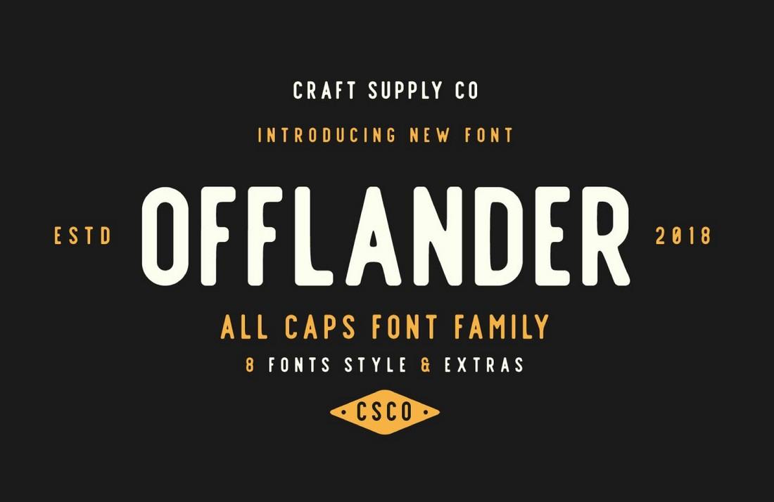 Offlander - Free Vintage Font