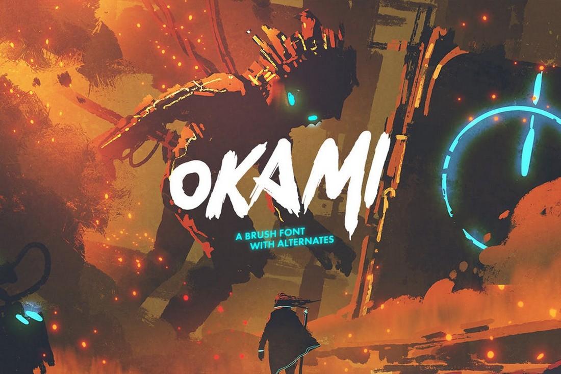 Okami - Font Kuas Jepang