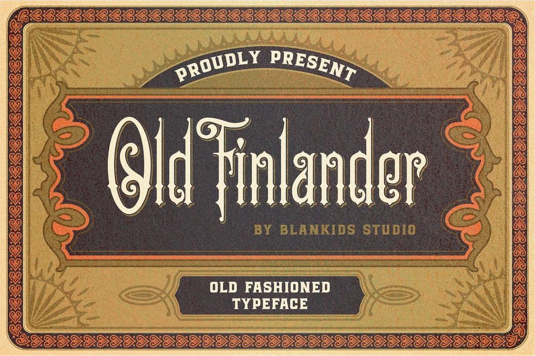 Orang Finlandia Lama - Font Art Nouveau