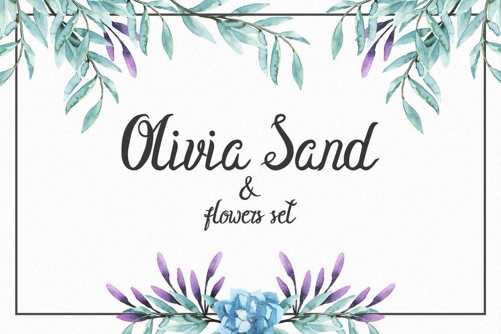 Olivia Sand - Font Undangan Pernikahan Elegan