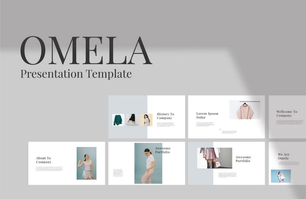 Omela - Free Clean Keynote Template